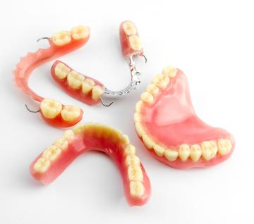 image of dentures and partials