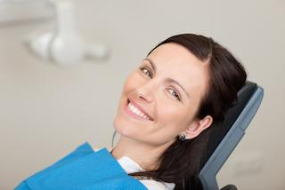 Smiling Woman in Dental chair | dentist Middletown NJ