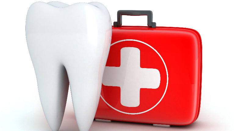 animated image of a dental emergency
