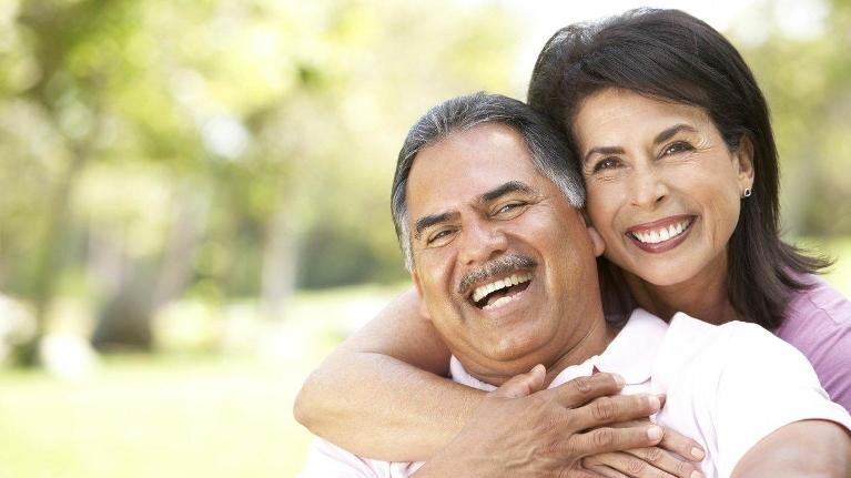 Older couple smiling | Dentist Middletown NJ