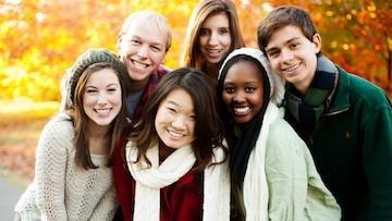 Group of People Smiling in Fall Weather | Braces in Middleton NJ
